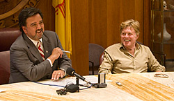 Governor Bill Richardson and Robert Redford