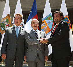 Bill Richardson and Governor Arnold Schwarzenegger