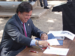 Bill Richardson Signing Bills